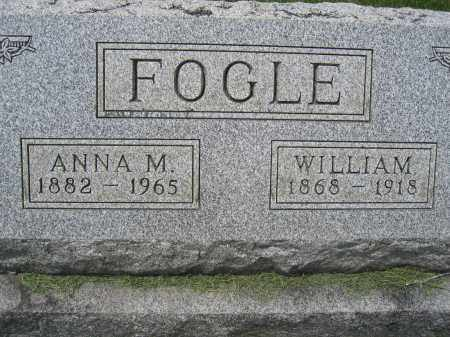 FOGLE, ANNA M - Union County, Ohio | ANNA M FOGLE - Ohio Gravestone Photos