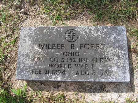 FORRY, WILBER B. - Union County, Ohio | WILBER B. FORRY - Ohio Gravestone Photos