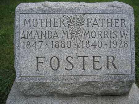 FOSTER, MORRIS W. - Union County, Ohio | MORRIS W. FOSTER - Ohio Gravestone Photos