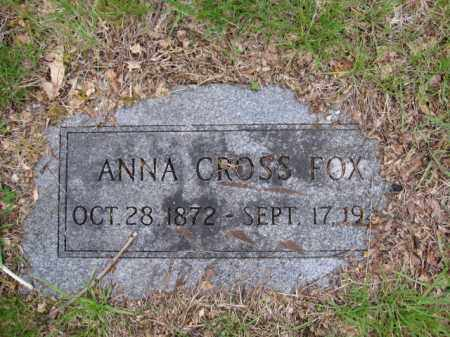 FOX, ANNA CROSS - Union County, Ohio | ANNA CROSS FOX - Ohio Gravestone Photos