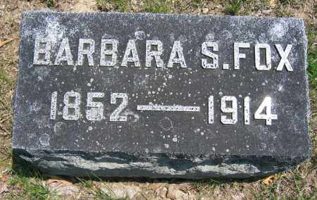 FOX, BARBARA S. - Union County, Ohio | BARBARA S. FOX - Ohio Gravestone Photos