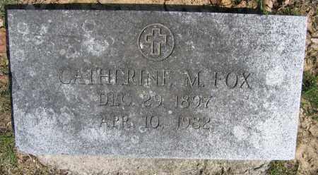 FOX, CATHERINE M. - Union County, Ohio | CATHERINE M. FOX - Ohio Gravestone Photos