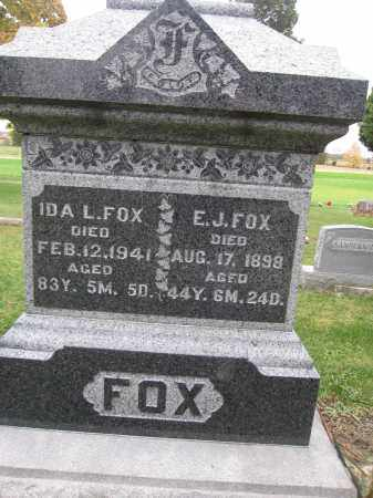 FOX, IDA L. - Union County, Ohio | IDA L. FOX - Ohio Gravestone Photos