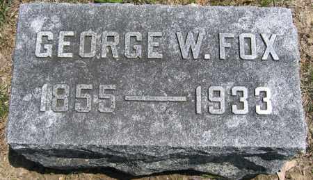 FOX, GEORGE W. - Union County, Ohio | GEORGE W. FOX - Ohio Gravestone Photos