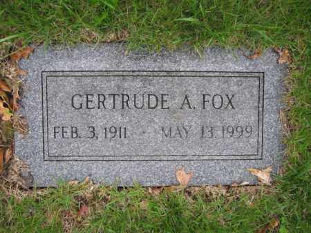 FOX, GERTRUDE A. - Union County, Ohio | GERTRUDE A. FOX - Ohio Gravestone Photos