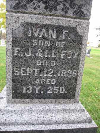 FOX, IVAN F. - Union County, Ohio | IVAN F. FOX - Ohio Gravestone Photos
