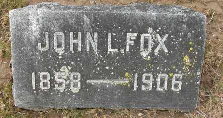 FOX, JOHN L. - Union County, Ohio | JOHN L. FOX - Ohio Gravestone Photos