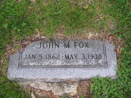 FOX, JOHN M. - Union County, Ohio | JOHN M. FOX - Ohio Gravestone Photos