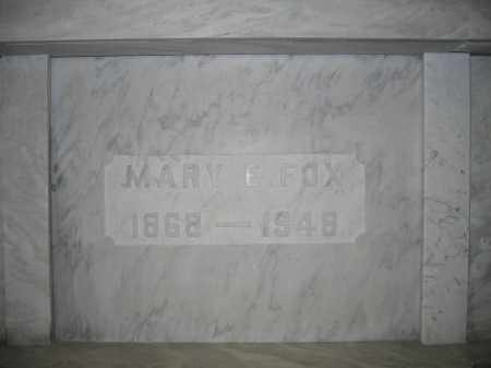 FOX, MARY E. - Union County, Ohio | MARY E. FOX - Ohio Gravestone Photos