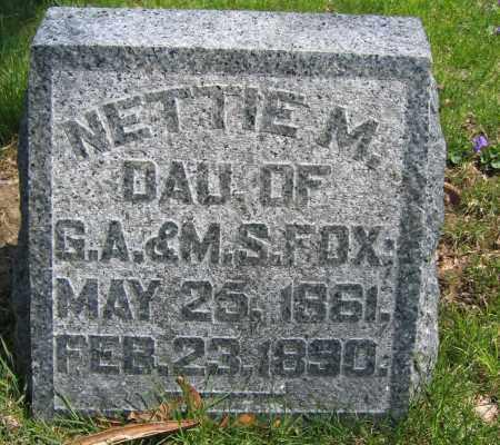 FOX, NETTIE M. - Union County, Ohio | NETTIE M. FOX - Ohio Gravestone Photos