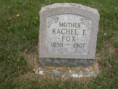 FOX, RACHEL E. - Union County, Ohio | RACHEL E. FOX - Ohio Gravestone Photos