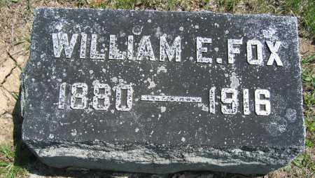 FOX, WILLIAM E. - Union County, Ohio | WILLIAM E. FOX - Ohio Gravestone Photos