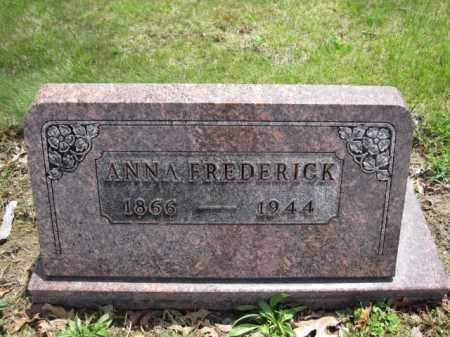 FREDERICK, ANNA - Union County, Ohio | ANNA FREDERICK - Ohio Gravestone Photos