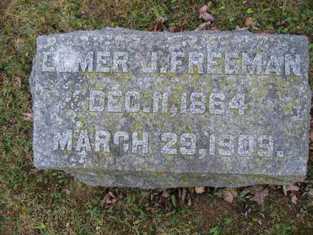 FREEMAN, ELMER J. - Union County, Ohio | ELMER J. FREEMAN - Ohio Gravestone Photos