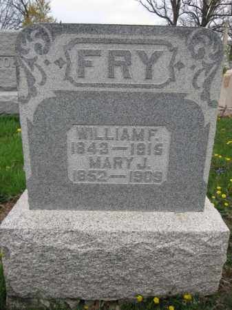 FRY, WILLIAM F. - Union County, Ohio | WILLIAM F. FRY - Ohio Gravestone Photos