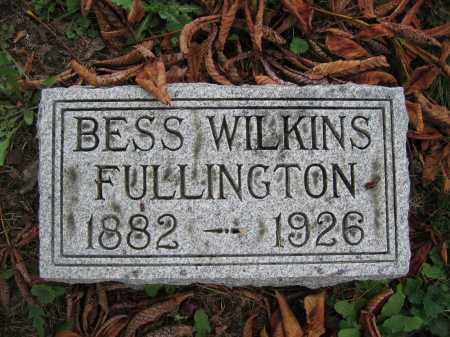 FULLINGTON, BESS WILKINS - Union County, Ohio | BESS WILKINS FULLINGTON - Ohio Gravestone Photos