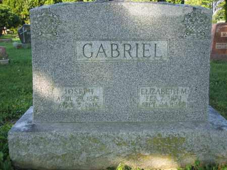 GABRIEL, ELIZABETH M. - Union County, Ohio | ELIZABETH M. GABRIEL - Ohio Gravestone Photos
