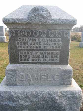 GAMBLE, CALVIN E. - Union County, Ohio | CALVIN E. GAMBLE - Ohio Gravestone Photos