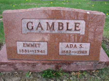 GAMBLE, EMMET - Union County, Ohio | EMMET GAMBLE - Ohio Gravestone Photos