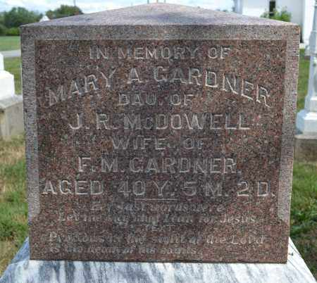 GARDNER, MARY A. MCDOWELL - Union County, Ohio | MARY A. MCDOWELL GARDNER - Ohio Gravestone Photos