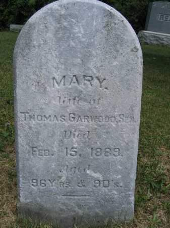 GARWOOD, MARY - Union County, Ohio | MARY GARWOOD - Ohio Gravestone Photos