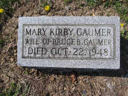 GAUMER, MARY KIRBY - Union County, Ohio | MARY KIRBY GAUMER - Ohio Gravestone Photos