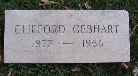 GEBHART, CLIFFORD - Union County, Ohio | CLIFFORD GEBHART - Ohio Gravestone Photos