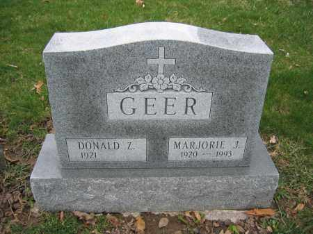 GEER, MARJORIE J. - Union County, Ohio | MARJORIE J. GEER - Ohio Gravestone Photos