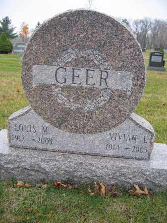 GEER, LOUIS M. - Union County, Ohio | LOUIS M. GEER - Ohio Gravestone Photos