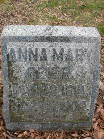 GEIER, ANNA MARY - Union County, Ohio | ANNA MARY GEIER - Ohio Gravestone Photos