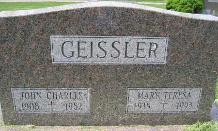 GEISSLER, MARY TERESA - Union County, Ohio | MARY TERESA GEISSLER - Ohio Gravestone Photos