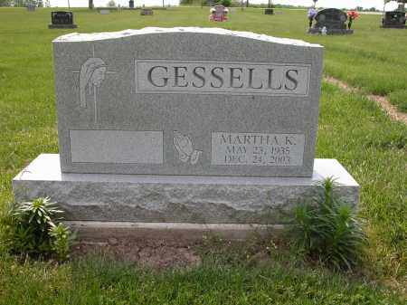 GESSELLS, MARTHA K. - Union County, Ohio | MARTHA K. GESSELLS - Ohio Gravestone Photos
