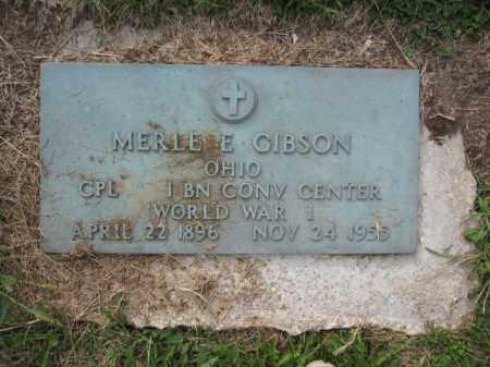 GIBSON, MERLE E. - Union County, Ohio | MERLE E. GIBSON - Ohio Gravestone Photos