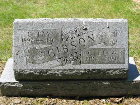 GIBSON, O. FAY - Union County, Ohio | O. FAY GIBSON - Ohio Gravestone Photos