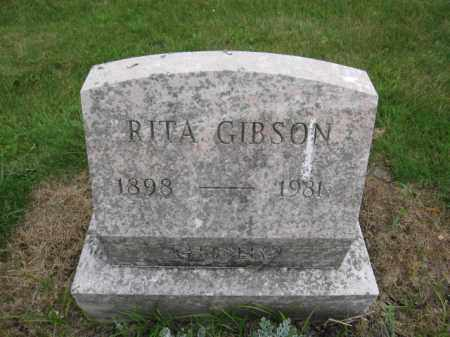 GIBSON, RITA - Union County, Ohio | RITA GIBSON - Ohio Gravestone Photos
