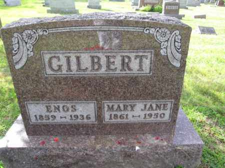 GILBERT, ENOS - Union County, Ohio | ENOS GILBERT - Ohio Gravestone Photos