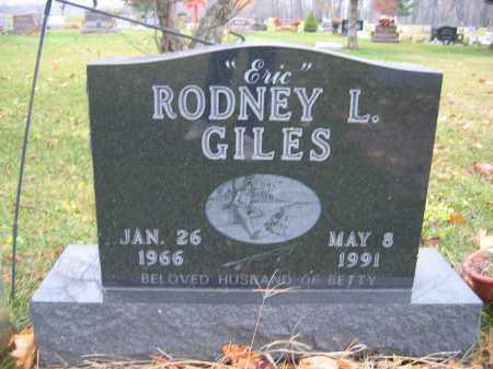 GILES, RODNEY L. - Union County, Ohio | RODNEY L. GILES - Ohio Gravestone Photos