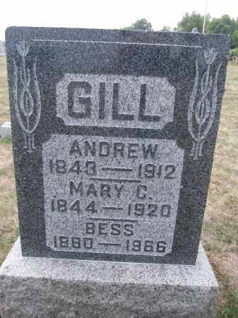GILL, BESS - Union County, Ohio | BESS GILL - Ohio Gravestone Photos