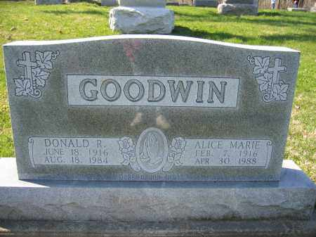 GOODWIM, DONALD R. - Union County, Ohio | DONALD R. GOODWIM - Ohio Gravestone Photos