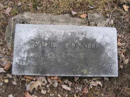 GOSNELL, SADIE - Union County, Ohio | SADIE GOSNELL - Ohio Gravestone Photos