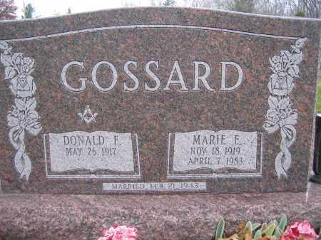 GOSSARD, MARIE E. - Union County, Ohio | MARIE E. GOSSARD - Ohio Gravestone Photos