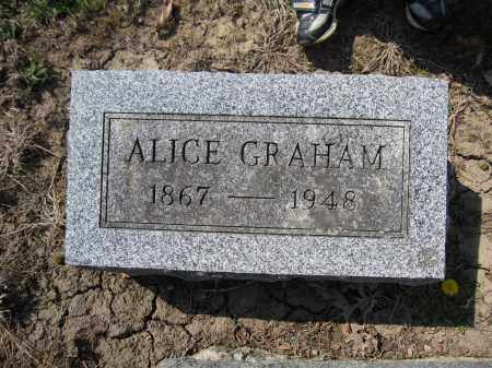 GRAHAM, ALICE - Union County, Ohio | ALICE GRAHAM - Ohio Gravestone Photos