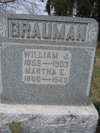 GRAUMAN, MARTHA E. - Union County, Ohio | MARTHA E. GRAUMAN - Ohio Gravestone Photos
