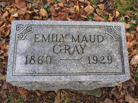 GRAY, EMILY MAUD - Union County, Ohio | EMILY MAUD GRAY - Ohio Gravestone Photos