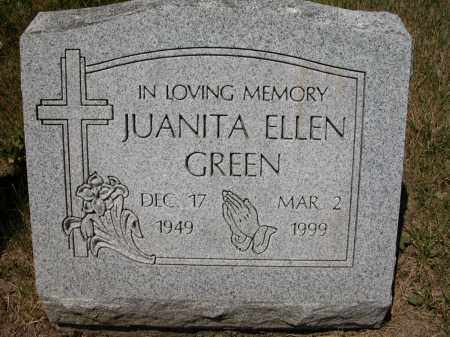 GREEN, JUANITA ELLEN - Union County, Ohio | JUANITA ELLEN GREEN - Ohio Gravestone Photos