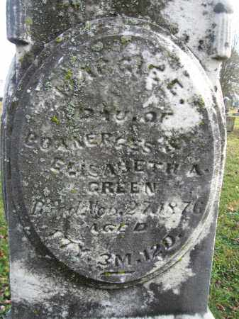 GREEN, MAGGIE E. - Union County, Ohio | MAGGIE E. GREEN - Ohio Gravestone Photos