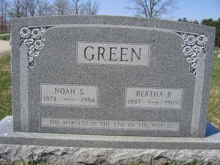 GREEN, BERTHA B. - Union County, Ohio | BERTHA B. GREEN - Ohio Gravestone Photos