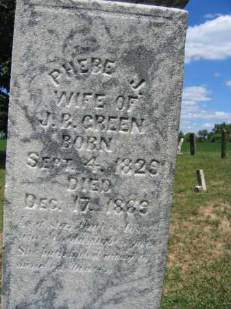 GREEN, PHEBE J. MOSHER - Union County, Ohio | PHEBE J. MOSHER GREEN - Ohio Gravestone Photos