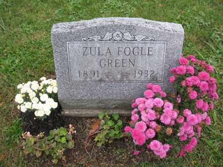 GREEN, ZULA FOGLE - Union County, Ohio | ZULA FOGLE GREEN - Ohio Gravestone Photos