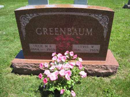 GREENBAUM, LILLIE M.K. - Union County, Ohio | LILLIE M.K. GREENBAUM - Ohio Gravestone Photos